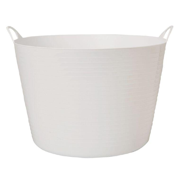 Living & Co Round Flexi Tub White 60L, , hi-res