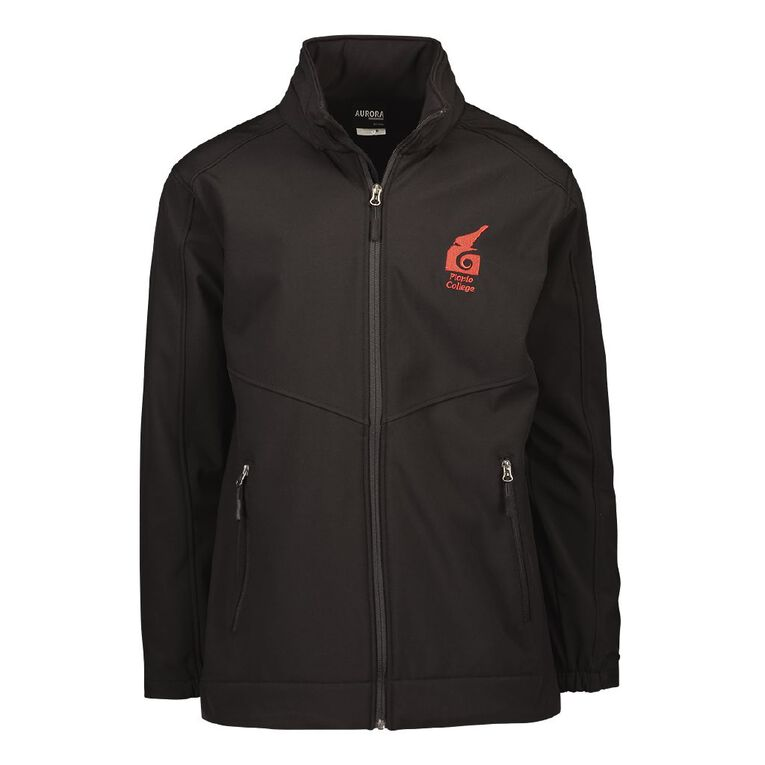 Schooltex Piopio College New Jacket wth Embroidery, Black, hi-res
