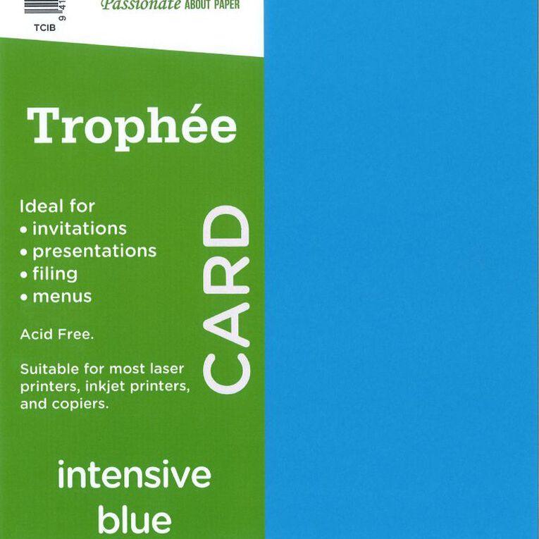 Trophee Card 160gsm 15 Pack Intensive Blue A4, , hi-res