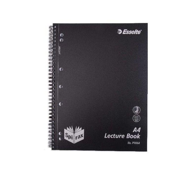 Spirax P906A PP Lecture Book So 250Pg Black, , hi-res