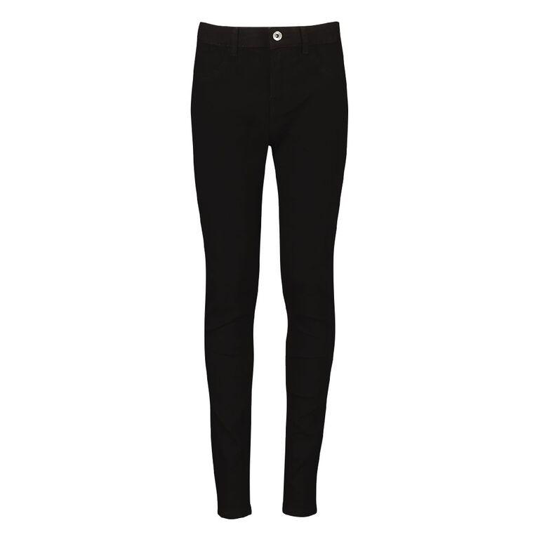 Young Original Girls' Stretch Skinny Jeans, Black, hi-res
