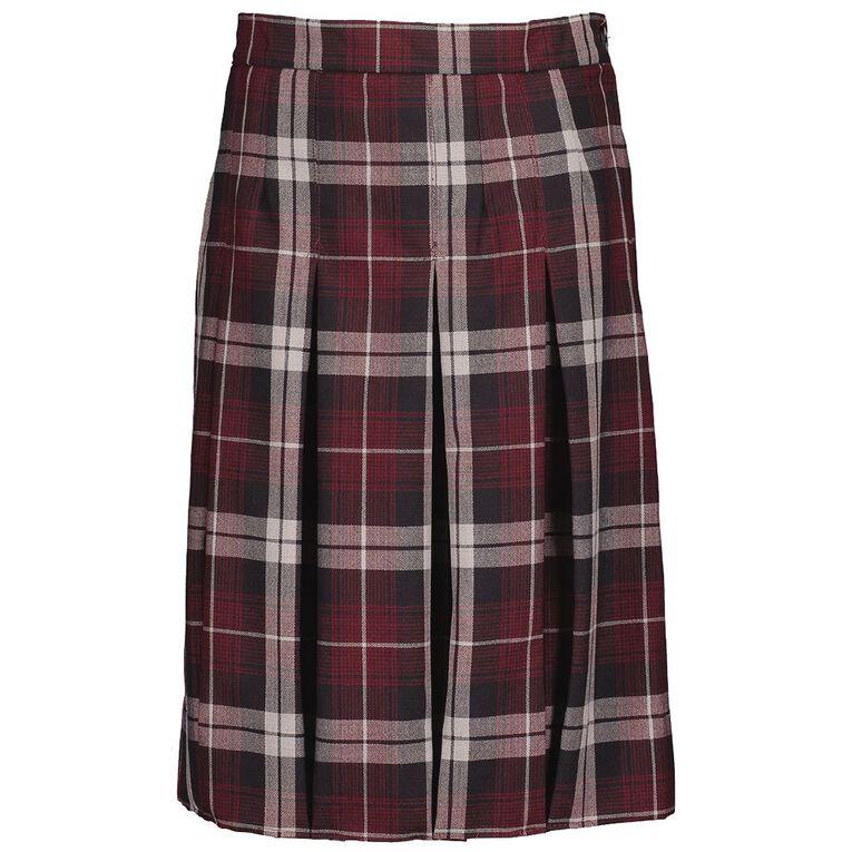 Schooltex Box Pleat Skirt, Schooltex Tartan TRT015, hi-res