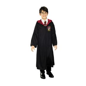 Harry Potter Classic Robe Costume Black/Red Size 6-8