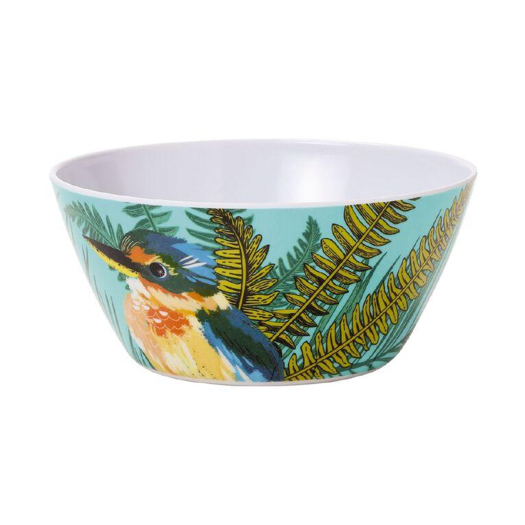 Living & Co Printed Melamine Bowl Kingfisher Multi-Coloured, , hi-res