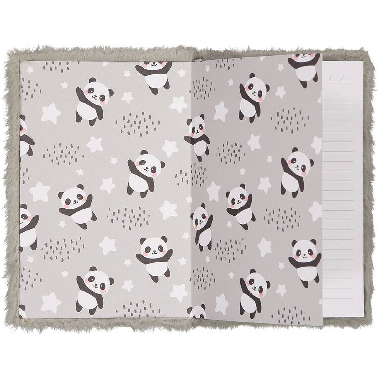 Kookie Novelty Notebook Hardcover Squishy Panda Grey, , hi-res