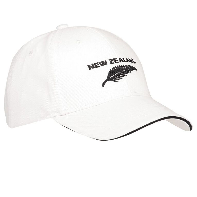 H&H Men's NZ Fern Cap, White, hi-res