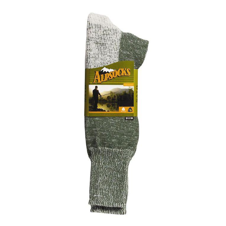 Alpsocks Men's Outdoor Socks, Green, hi-res