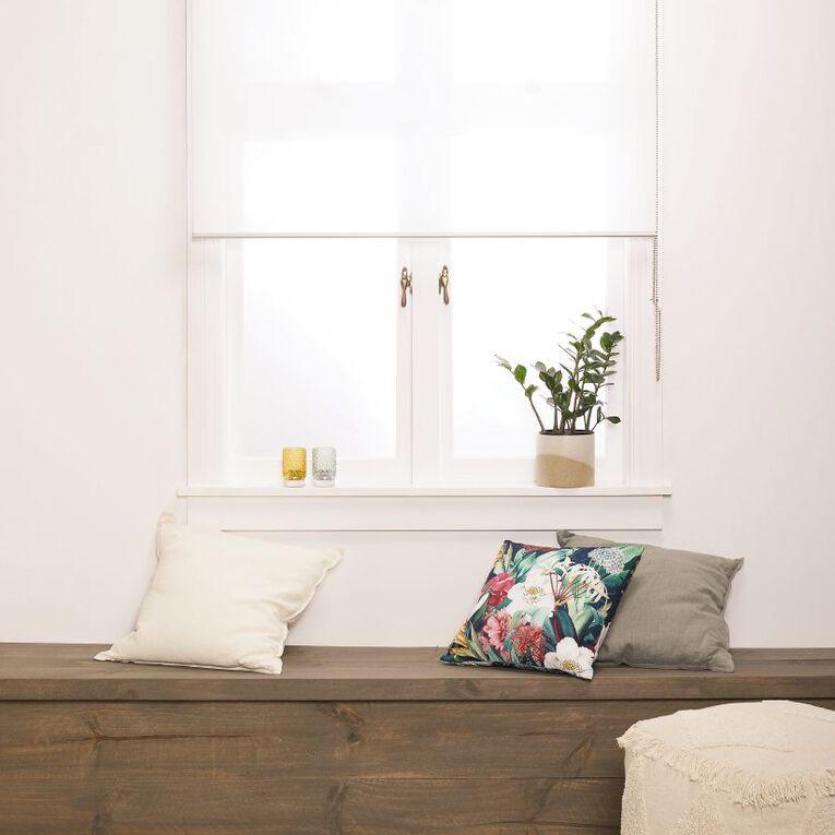Homeworks Granada Sheer Roller Blind White 60cm x 210cm, White, hi-res