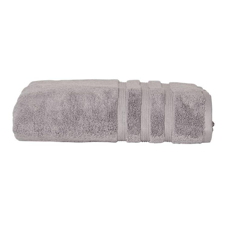 Living & Co Montreal Spa Towel Alloy Grey 90cm x 150cm, Grey, hi-res