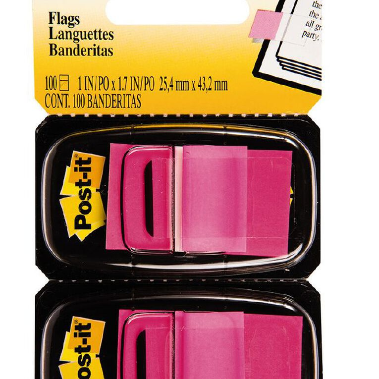 Post-It Flags 2 Pack Bright Pink, , hi-res