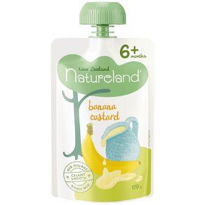 Natureland Banana Custard Pouch 120g