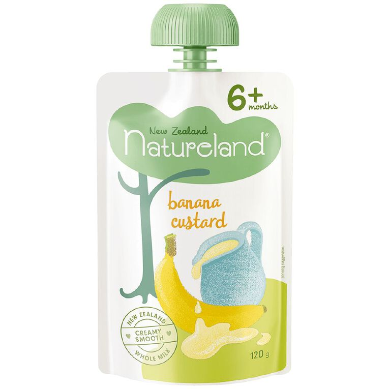 Natureland Banana Custard Pouch 120g, , hi-res
