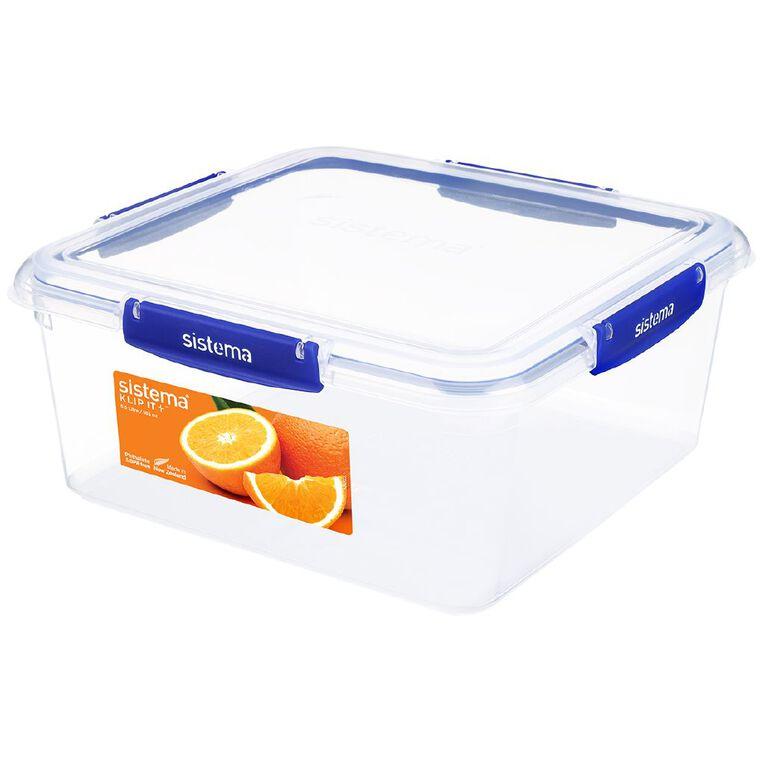 Sistema Klip It Plus Square Container Blue 5.5L, , hi-res
