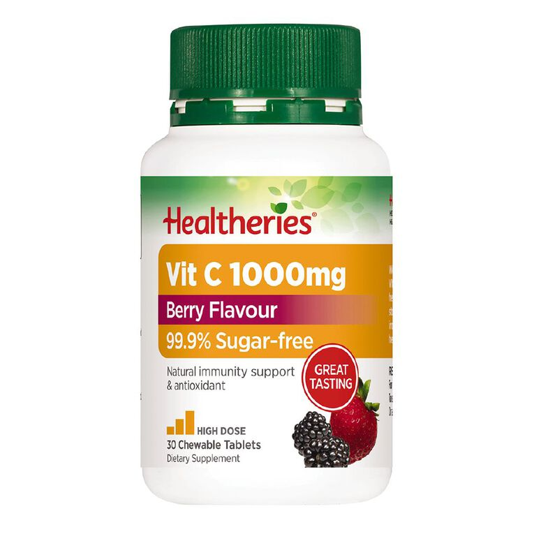 Healtheries Vitamin C 1000 Berry Flavour 30s, , hi-res