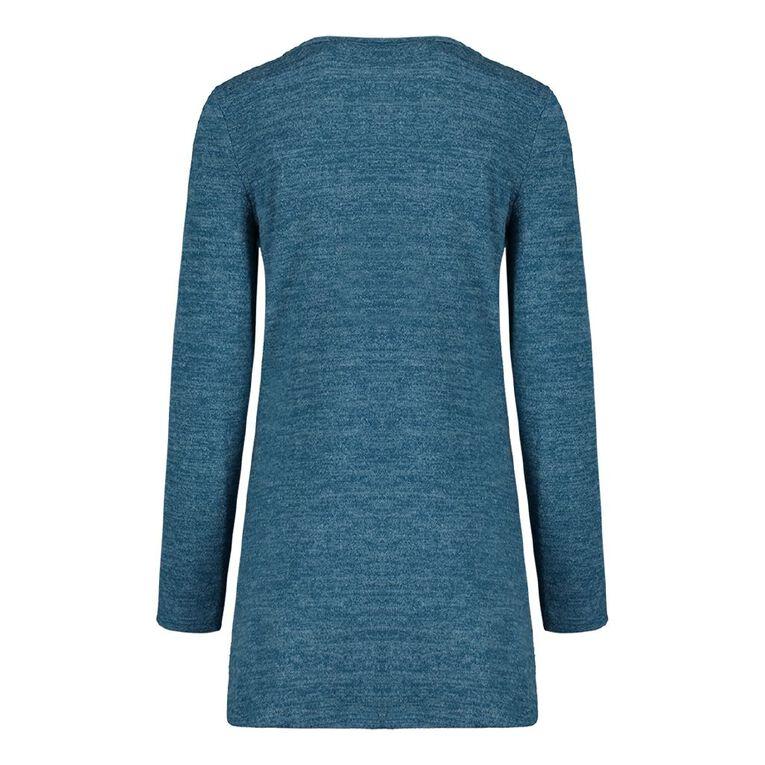 Pickaberry Women's Button Thru Henley, Blue Mid, hi-res image number null
