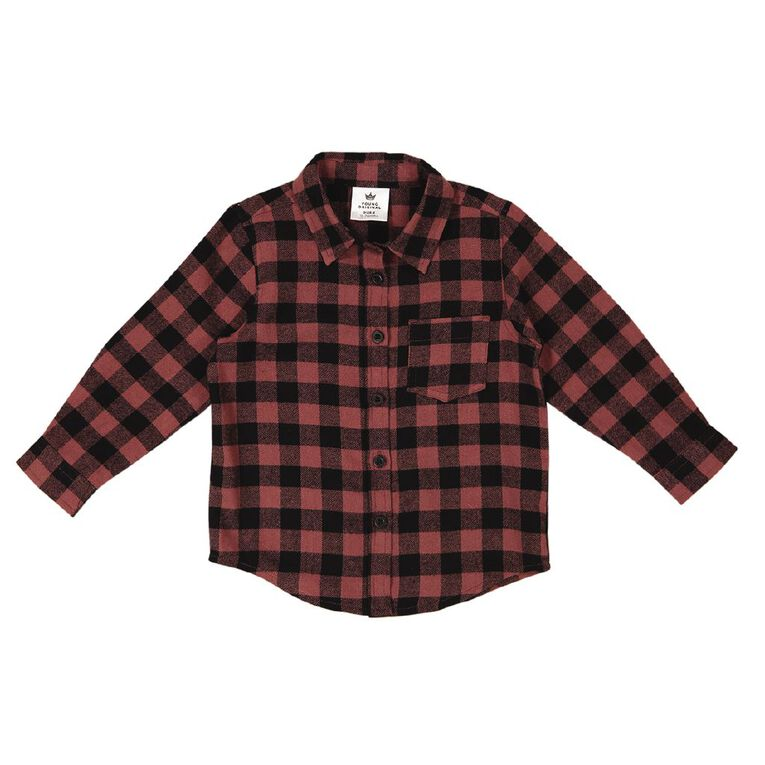 Young Original Toddler Flannel Shirt, Brown Mid, hi-res