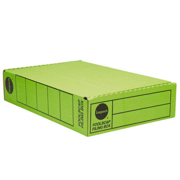 Impact Storage Box Foolscap Green, , hi-res