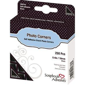 3L Photo Corners 10mm 250 Pack Black