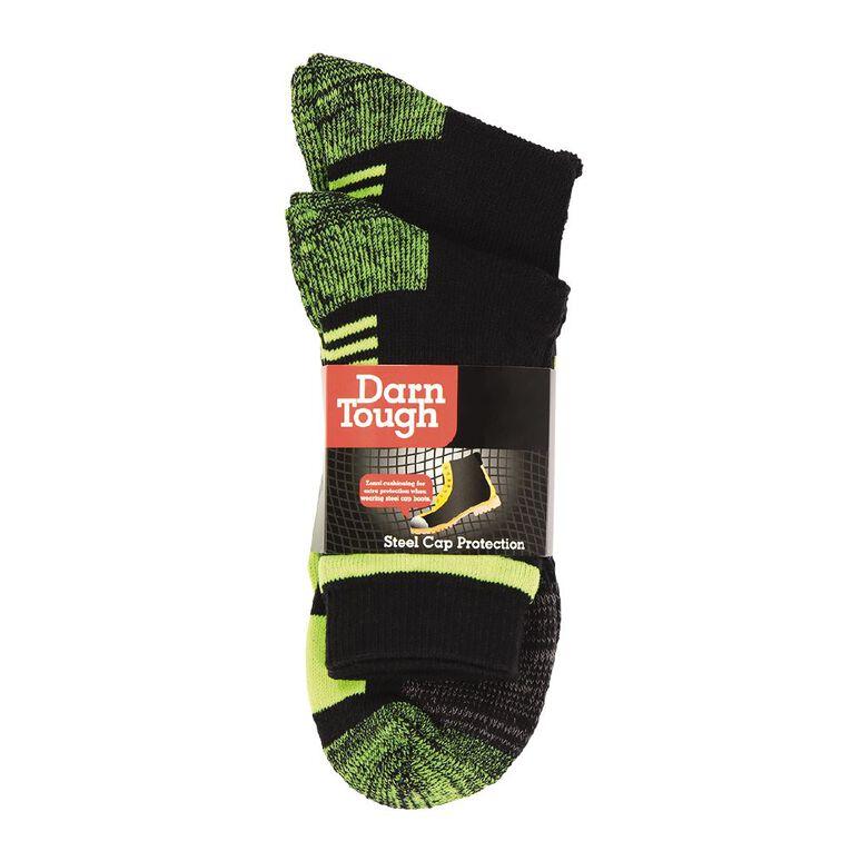 Darn Tough Men's Work Socks 2 Pack, Black/Yellow, hi-res image number null