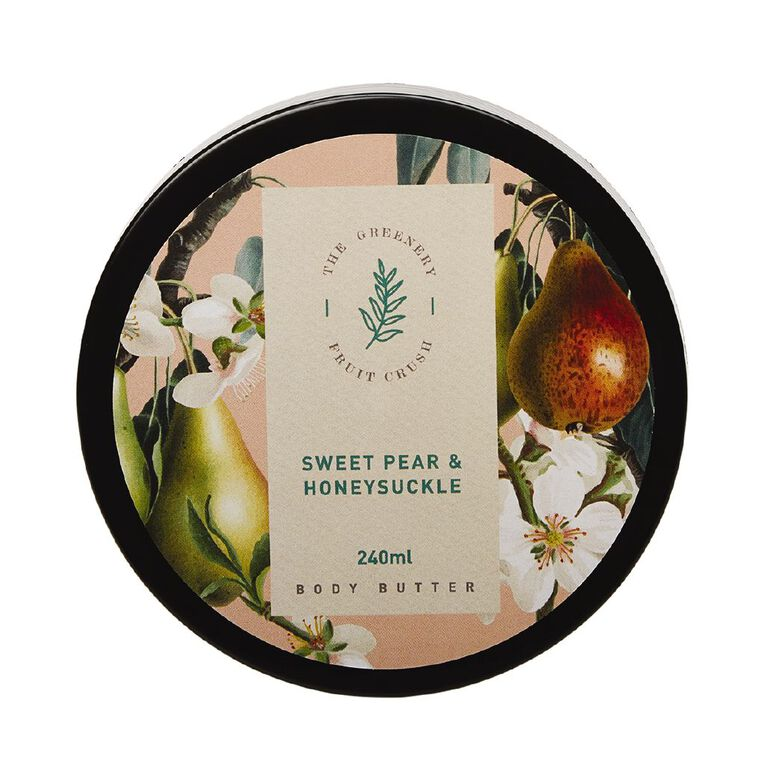 Winter Fruit Sweet Pear And Honey Suckle Body Butter 200ml, , hi-res