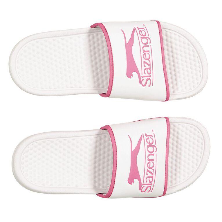 Slazenger Women's Slides, White, hi-res