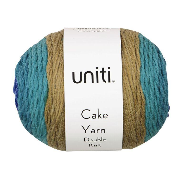 Uniti Yarn Cake Double Knit 200g Blue Tartan, , hi-res