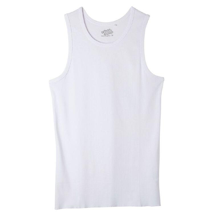 Garage Men's Plain Singlet, White, hi-res