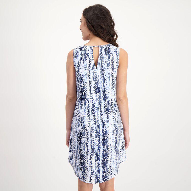 H&H Women's Sleeveless Printed Dress, White, hi-res image number null