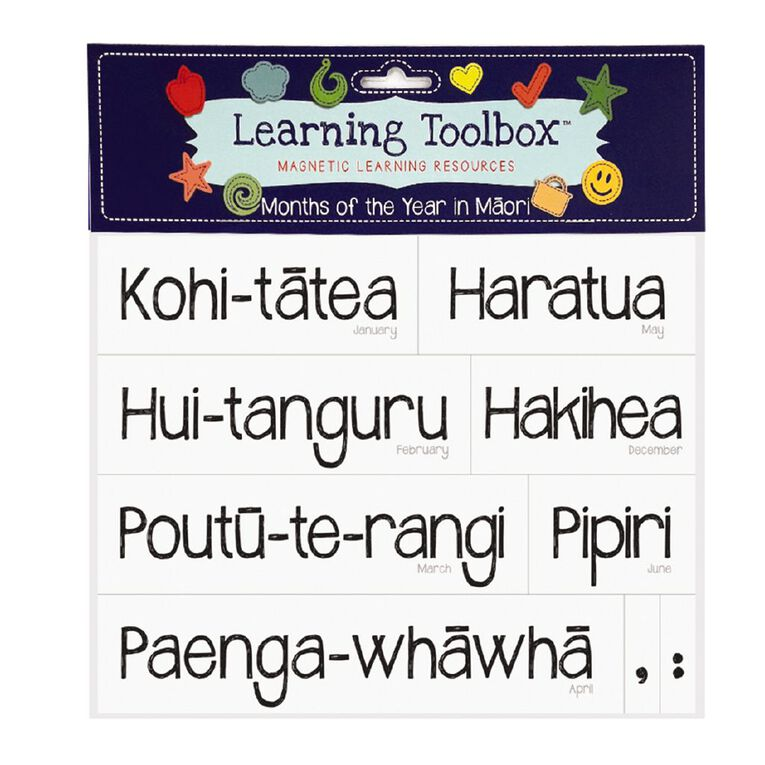 Learning Tool Box Magnetic NZ Maori Months Assorted 21 Pack, , hi-res image number null