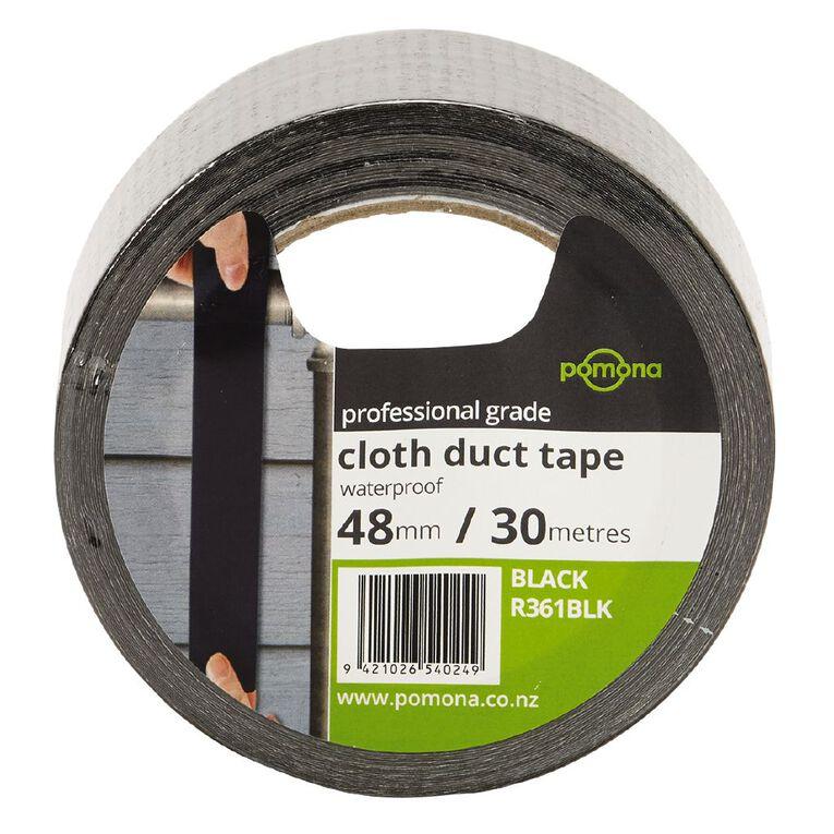 Pomona Waterproof Cloth Tape 48mm x 30m Black, , hi-res