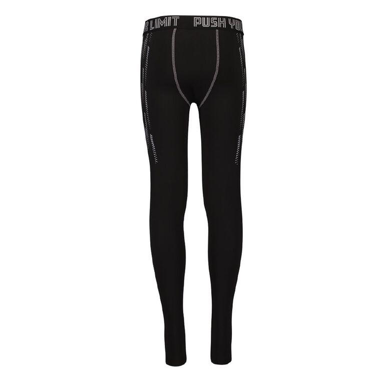 Active Intent Boys' Compression Pants, Black W21-NW, hi-res