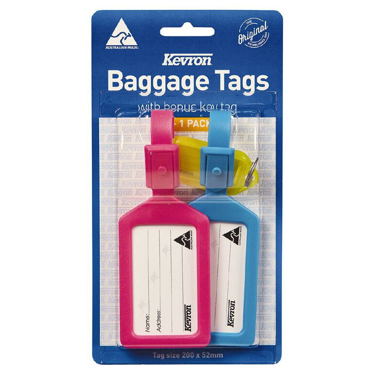Kevron Baggage Tags With Key Ring Multi-Coloured, , hi-res