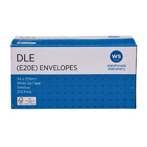 WS Envelope DLE E20E Window Seal 250 Pack