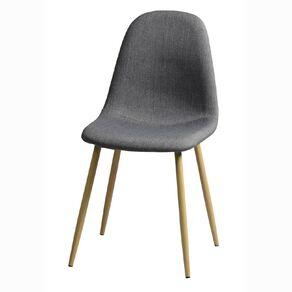 Living & Co Fabric Chair Grey Wood Look Legs