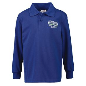 Schooltex Tuakau Primary Long Sleeve Polo with Embroidery