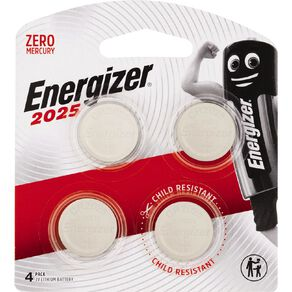 Energizer Lithium Batteries 2025 4 Pack