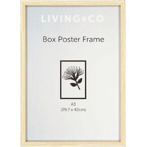 Living & Co Frame Box Poster Oak Wood Brown A3