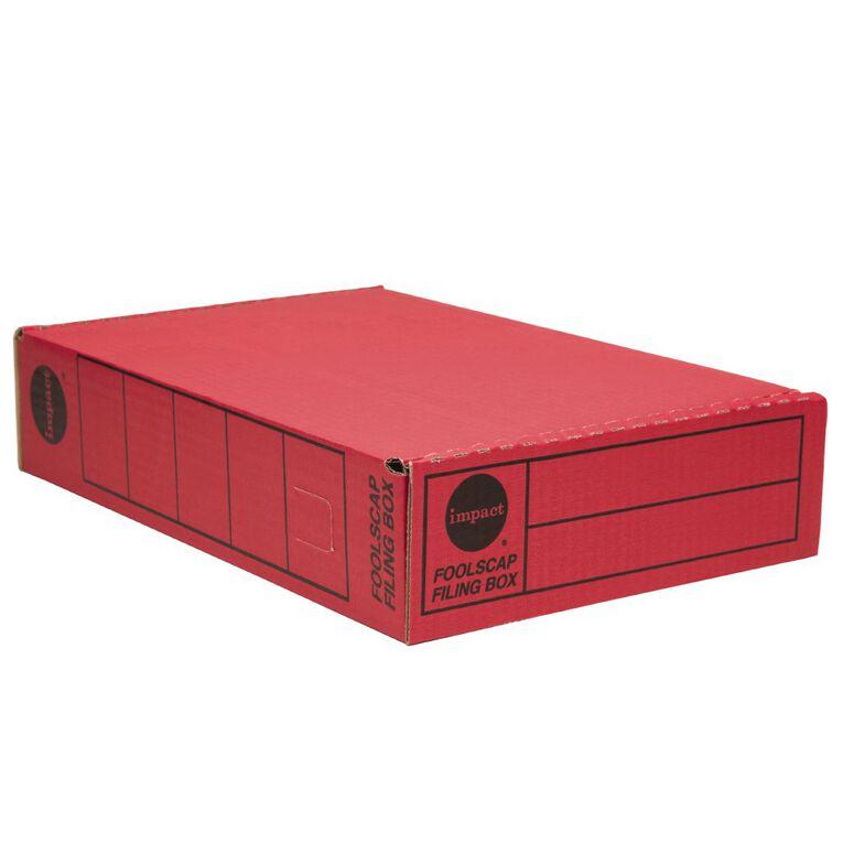 Impact Storage Box Foolscap Red, , hi-res