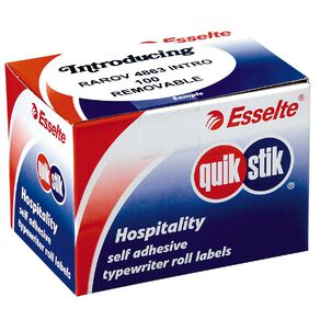 Quik Stik Labels Oval Introducing 100 Pack White