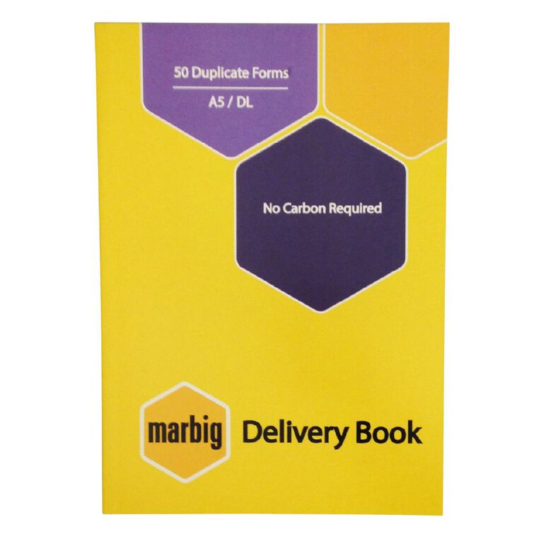 Marbig Delivery Book Duplicate 50 Leaf Yellow A5, , hi-res