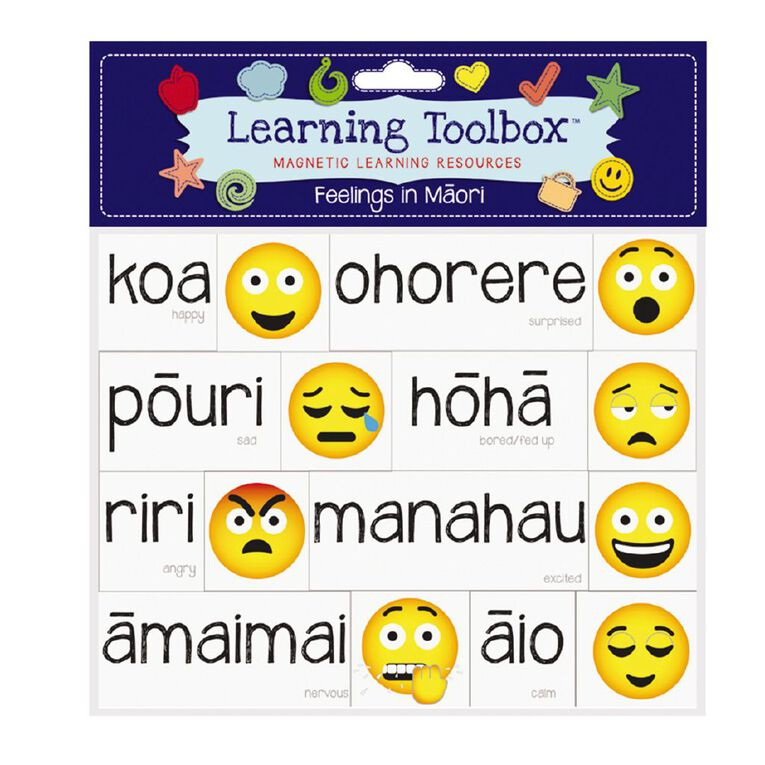 Learning Tool Box Magnetic NZ Maori Emotes Assorted, , hi-res