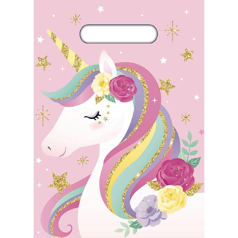 Artwrap Unicorn Party Bags 8 Pack, , hi-res