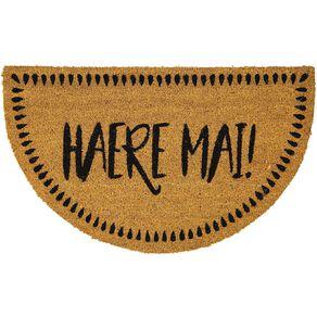Living & Co Haere Mai Door Mat Natural 45cm x 75cm