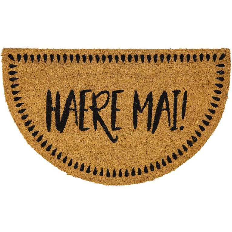 Living & Co Haere Mai Door Mat Natural 45cm x 75cm, Natural, hi-res