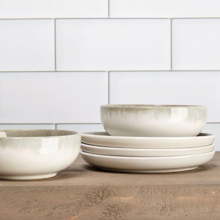 Living & Co Kina Glazed Dinner Plate Green, , hi-res
