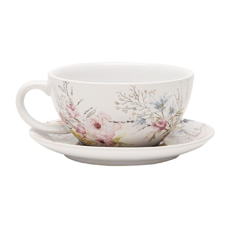 Living & Co Printed Gifting Tea Cup Floral, , hi-res