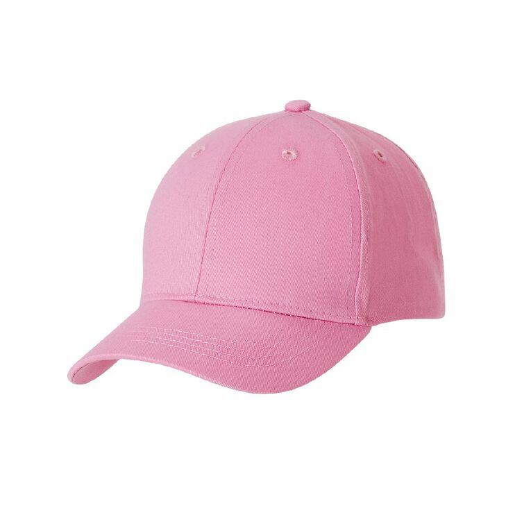 Young Original Kids' Twill Peak Cap, Pink, hi-res