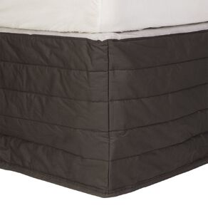 Living & Co Valance Quilted Cotton Charcoal