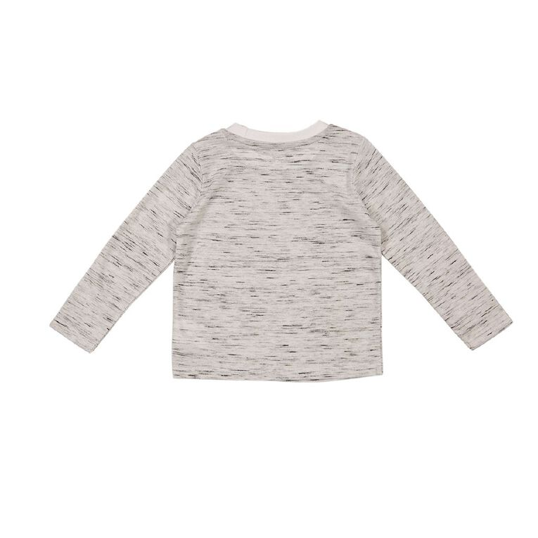 Young Original Toddler Long Sleeve Space Dye Tee, Grey Mid, hi-res