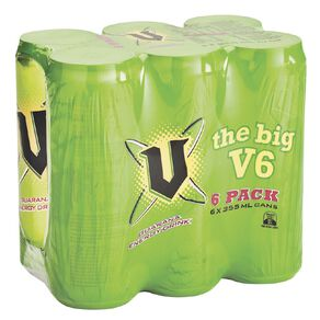 V Energy Drink Cans 355ml 6 Pack